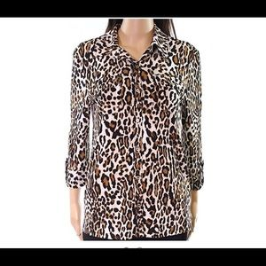 Karl Lagerfeld | Leopard Button Down Shirt